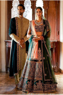 Thread Work Bridal wear Lehenga Choli special from Bridalethnic
