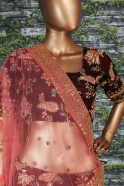 Designer Lehenga Choli with Embroidery work from Sabyasachi wardrobe