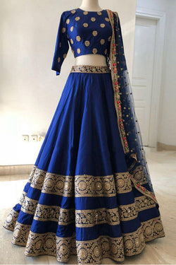 Shop Blue Party Wear Lehenga Choli Online for Women in India, USA - Bridal Ethnic