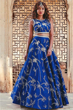 Shop Blue Festive Wear Lehenga Choli Online in India, USA - Bridal Ethnic