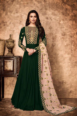 Shop Green Embroidered Anarkali Suit Online in India, USA - Bridal Ethnic