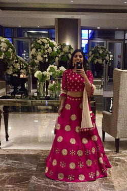 Shop Rani Pink Party Wear Lehenga Choli Design for Women - Bridal Ethnic