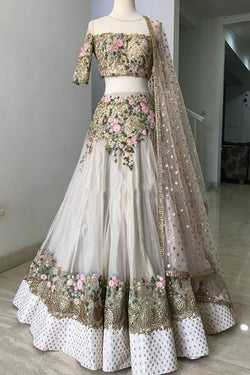 Shop White Sequins Work Lehenga Choli Online in India, USA from Bridal Ethnic