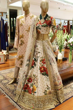 Digital Printed Lehenga Choli of Art Silk from Sonam Kapoor's Wardrobe