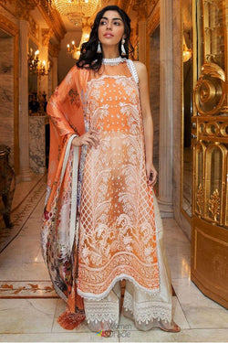 Designer Palazzo Suit for Rakshabandhan festival with Stunning Orange Organza Embroidery Work
