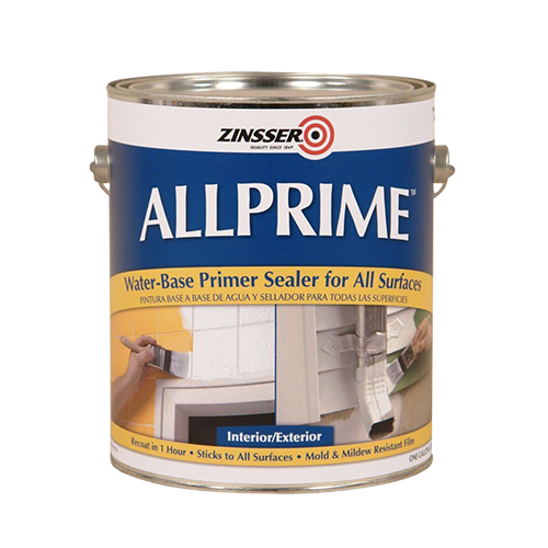 Zinsser Allprime interior and exterior primer sealer for all surfaces, available at Gleco Paint in PA.