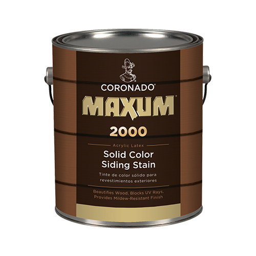 Benjamin Moore Coronado Maxum 2000 Solid Color Siding Stain, available at Gleco Paint in PA.