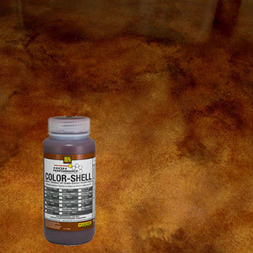 Concrete floor that has Seal Krete's Color Shell in brown.