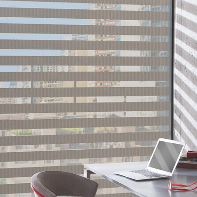 Hunter Douglas Designer Banded Window Treatments, available at Gleco Paint in PA.