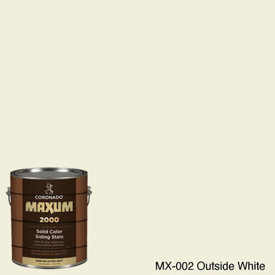 Coronado Maxum siding stain in the color MX-002 Outside White available at Gleco Paint in PA.