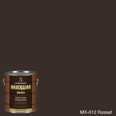 Coronado Maxum siding stain in the color MX-012 Russet available at Gleco Paint in PA.