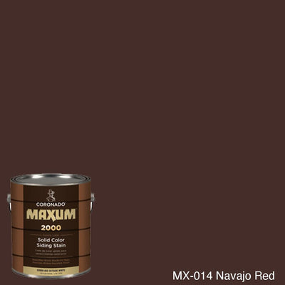 Coronado Maxum siding stain in the color MX-014 Navajo Red available at Gleco Paint in PA.