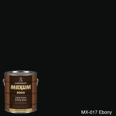 Coronado Maxum siding stain in the color MX-017 Ebony available at Gleco Paint in PA.