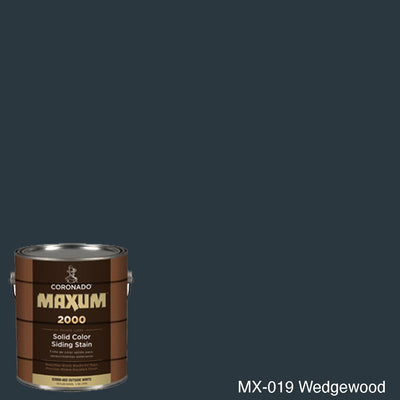 Coronado Maxum siding stain in the color MX-019 Wedgewood available at Gleco Paint in PA.
