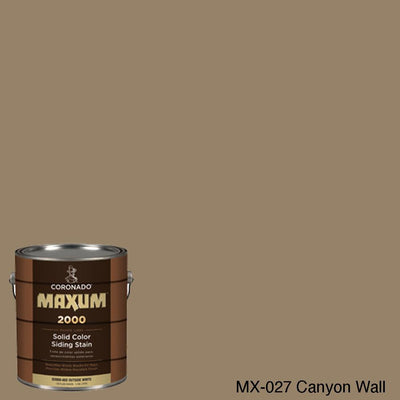 Coronado Maxum siding stain in the color MX-027 Canyon Wall available at Gleco Paint in PA.
