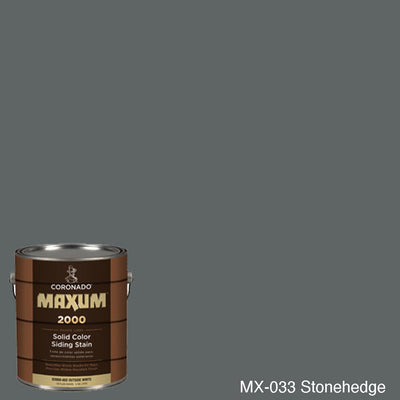 Coronado Maxum siding stain in the color MX-033 Stonehedge available at Gleco Paint in PA.