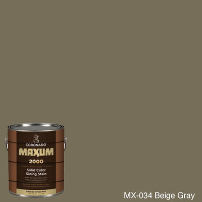 Coronado Maxum siding stain in the color MX-034 Beige Gray available at Gleco Paint in PA.