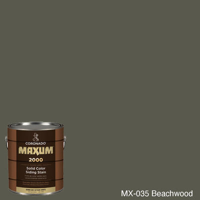 Coronado Maxum siding stain in the color MX-035 Beachwood available at Gleco Paint in PA.