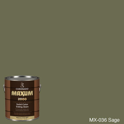 Coronado Maxum siding stain in the color MX-036 Sage available at Gleco Paint in PA.