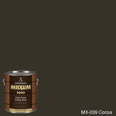 Coronado Maxum siding stain in the color MX-039 Cocoa available at Gleco Paint in PA.