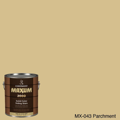 Coronado Maxum siding stain in the color MX-043 Parchment available at Gleco Paint in PA.