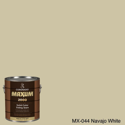 Coronado Maxum siding stain in the color MX-044 Navajo White available at Gleco Paint in PA.