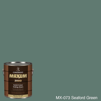 Coronado Maxum siding stain in the color MX-073 Seaford Green available at Gleco Paint in PA.