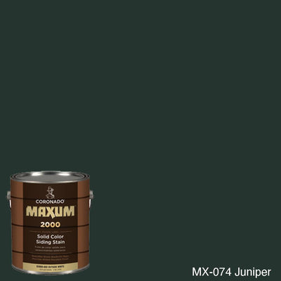Coronado Maxum siding stain in the color MX-074 Juniper available at Gleco Paint in PA.