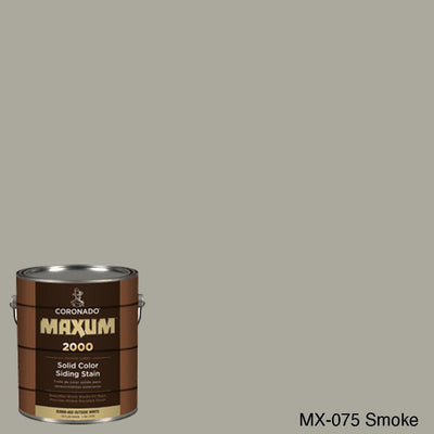 Coronado Maxum siding stain in the color MX-0075 Smoke available at Gleco Paint in PA.