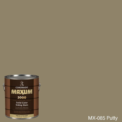 Coronado Maxum siding stain in the color MX-085 Putty available at Gleco Paint in PA.