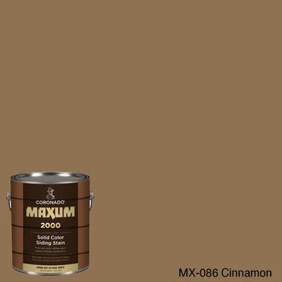 Coronado Maxum siding stain in the color MX-086 Cinnamon available at Gleco Paint in PA.