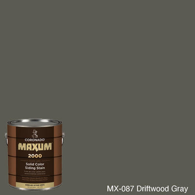 Coronado Maxum siding stain in the color MX-087 Driftwood Gray available at Gleco Paint in PA.