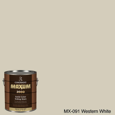Coronado Maxum siding stain in the color MX-091 Western White available at Gleco Paint in PA.