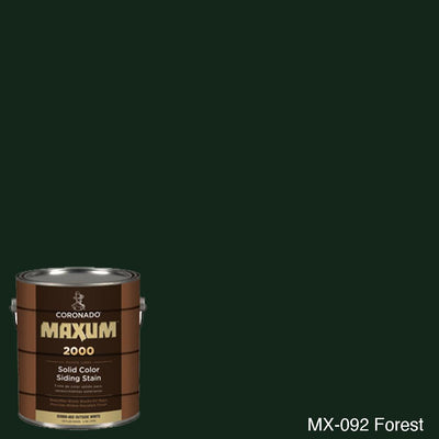 Coronado Maxum siding stain in the color MX-092 Forest available at Gleco Paint in PA.