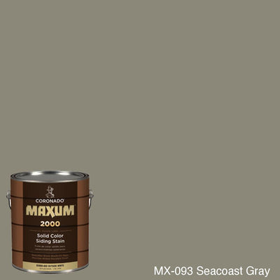 Coronado Maxum siding stain in the color MX-093 Seacoast Gray available at Gleco Paint in PA.