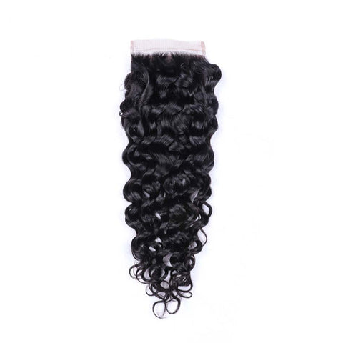 Africa Hair Beauty Hair 100% Human Hair Kinky Curl 4*4 Lace Closure Three Part