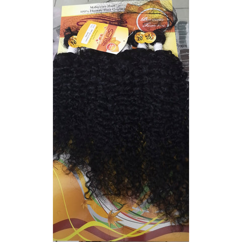 Malaysian 6pc Jerry Curl Human Hair Bundles with Natural Color