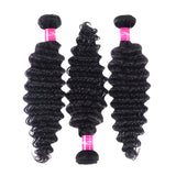 AFRICA HAIR BEAUTY Deep Wave Bundles Brazilian Hair Weave Bundles 1 PCS