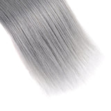 Straight Hair T1B/Grey Color Brazilian Human Hair