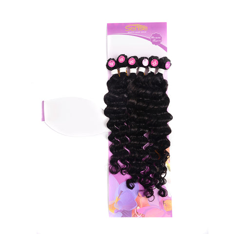 Brazilian 6pc Deep Weave Bundles With Closure