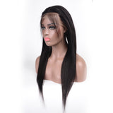 Straight Hair 360 Lace Frontal Closure With Natual Black color 100% Brazilian human hair
