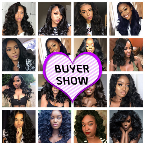 Body Hair Extension With Closure and Free Shipping 10A Brazilian Human Hair 3/2 Bundles With Closure