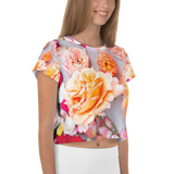 Flower - All-Over Print Crop Tee