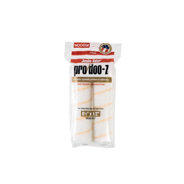 "6-1/2"" x 1/2"" Jumbo-Koter Pro/Doo-Z 2-Pack paint roller, available at Creative Paint in San Francisco."