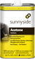 Sunnyside quart of Acetone, available at Creative Paint in San Francisco, South Bay & East Bay.