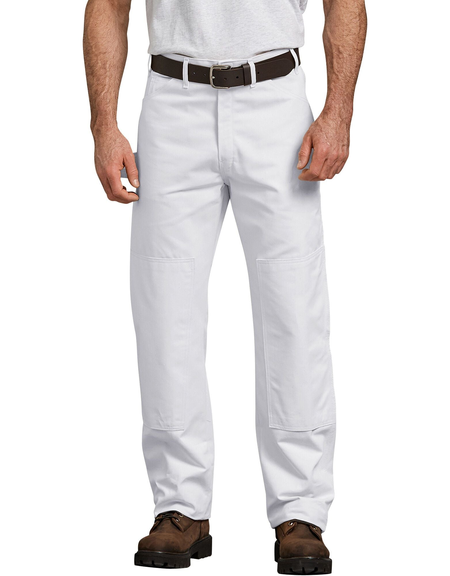 White Double Knee Pants