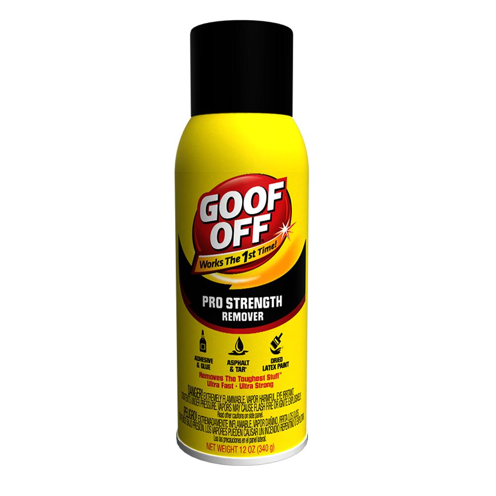 Goof Off Spray VOC in a 12 oz can, available at Creative Paint in San Francisco, South Bay & East Bay.