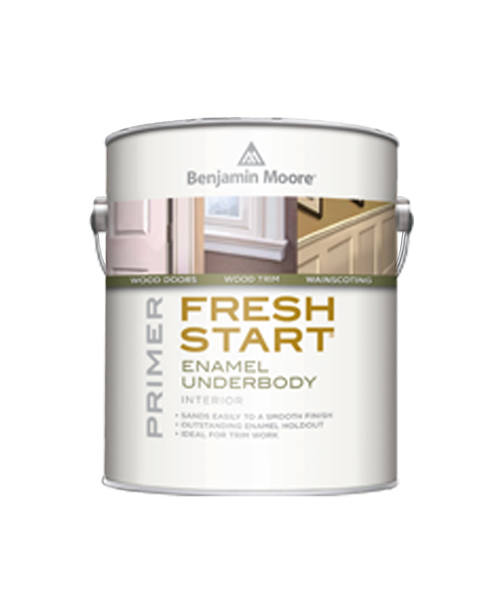 Benjamin Moore Fresh Start enamel underbody primer, available at Creative Paint in San Francisco, South Bay & East Bay.