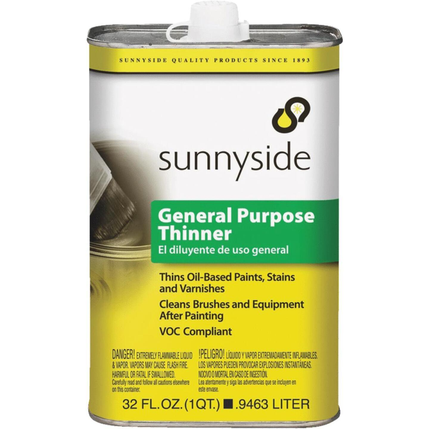 Quart of Sunnyside general purpose thinner, available at Creative Paint in San Francisco, South Bay & East Bay.