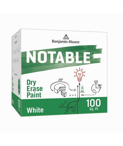 Benjamin Moore Notable Dry Erase Paint in White 100 sq. ft, available at Creative Paint in San Francisco, South Bay & East Bay.